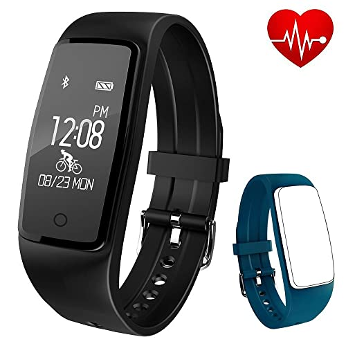 Fitness tracker Soconic Smart Watch Activity Tracker Heart Rate Monitor Touch Screen Wearable Pedometer Wristband Health Bracelet Sport Watch With Step Counter Calories Counter Distance Tracker Sleep Monitor Call Message Reminder For Women Men Ladies Kids