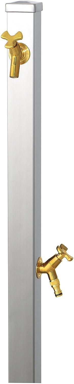 ユニソン(UNISON) 立水栓 スプレスタンド60 左右仕様 ステンレスシルバー 蛇口2個セット ゴールド B01IH1GWCI 27517 ステンレスシルバー ステンレスシルバー