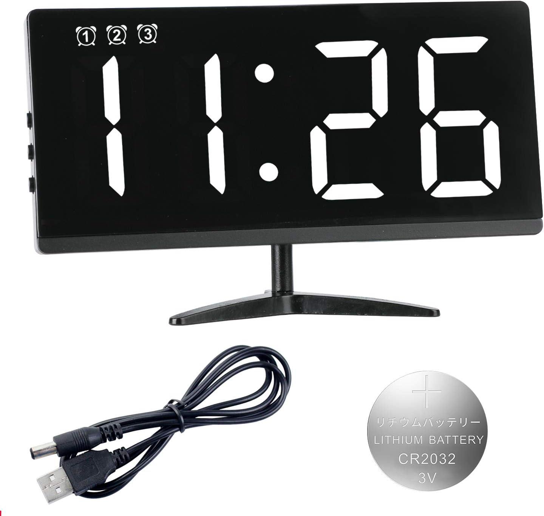 ZKIAH Reloj Despertador Digital, Despertador Fornite Reloj Mesita de Noche con RepeticióN, 3 Alarmas, Fecha, Temperatura, Brillo Y Ajuste De Volumen LED Reloj Despertador Enchufable