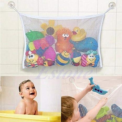 zrshygs Baby Bath Time Cute Toy Tidy Storage Suction Cup Bag Mesh Bathroom Organiser Net