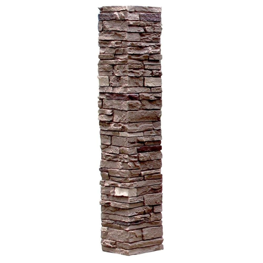 NextStone Slatestone 1pc 8''x 8'' x 41'' Post Cover Brunswick Brown