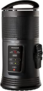 Honeywell Ceramic Surround Whole Room Heater with Remote, HZ-445R, Black