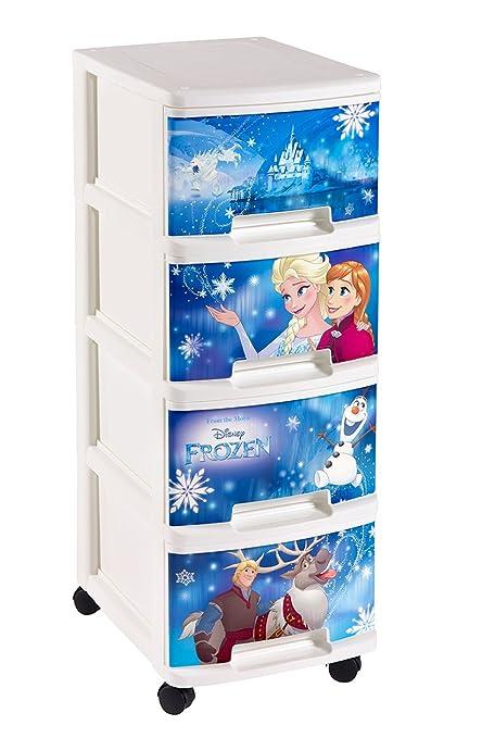 CURVER 231707 Torre con 4 cajones/Ruedas, diseño de Frozen ...