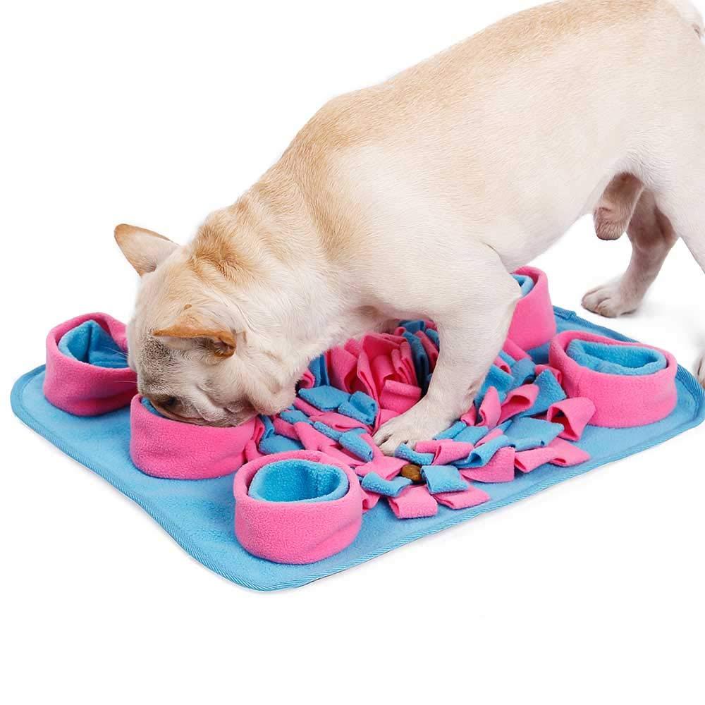LONG-C Dog Cat Snuffle Feeding Mat Sniffing Pad Washable Soft Fleece Training Foraging Skill Dogs Play Mats