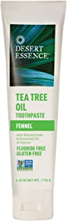 product image for Desert Essence Tea Tree Oil Toothpaste - Fennel - 6.25 Oz - Refreshing Taste - Baking Soda - Pure Essential Oil - Sea Salt - Finest Natural Ingredients - Promotes Healthy Mouth