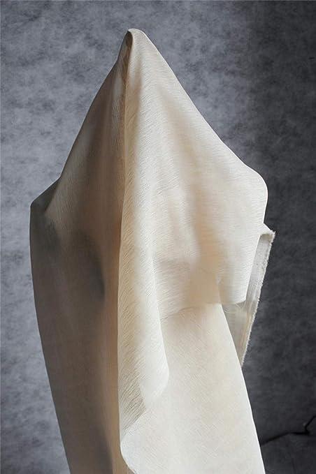 JKLAQ Telas por Metros para Vestidos- Tela De Algodón De Doble Capa De Organza Ropa De Diseño De Vestido De Rayas, Camel (0.5M): Amazon.es: Hogar