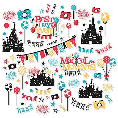 Paper Die Cuts - Magic Moments - Over 60 Cardstock Scrapbook Die Cuts - by Miss Kate Cuttables