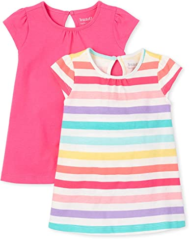 The Childrens Place Baby Girls 2 Pack Short Sleeve Dress