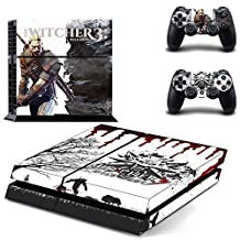 CAN® PS4 Console Designer Protective Vinyl Skin Decal Cover for Sony PlayStation 4 & Remote DualShock 4 Wireless Controller Stickers - Witcher 3 Wild Hunt GYTM0108