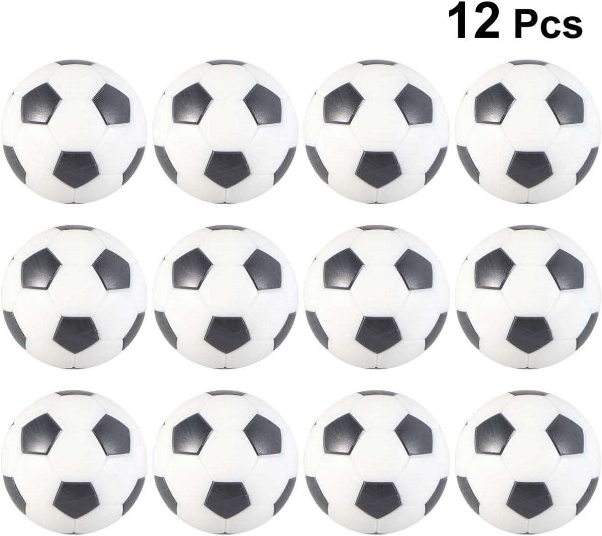 LIOOBO 12 Piezas futbolín futbolín Mini futbolín reemplazo de Pelota Juego de Mesa Pelota fútbol de Mesa para Entretenimiento de Entretenimiento: Amazon.es: Deportes y aire libre