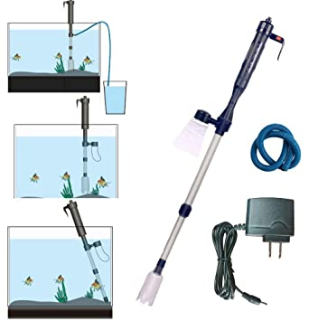 ZLQF Eléctrico Aspirador Sifón Grava Filtro De Agua De Limpieza Lavadora De Arena para Acuario Pecera Tanque: Amazon.es: Productos para mascotas