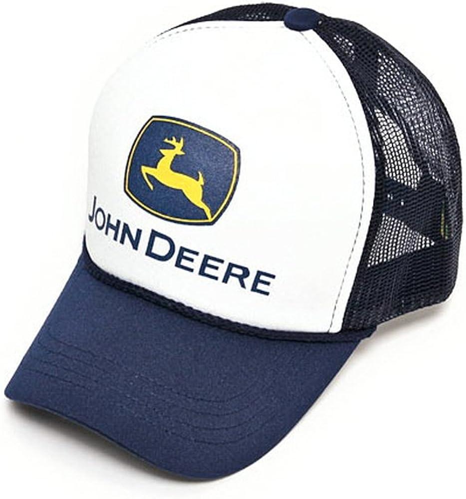 John Deere - Gorra de malla con visera precurvada verde 2. Navy ...