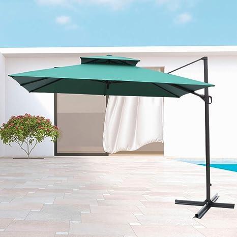 Sombrilla de jardín, 10 pies/con manivela/Ascensor, Mercado/terraza al Aire Libre (Varios Estilos): Amazon.es: Hogar