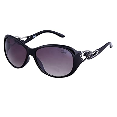 66e1fe8b5acc Bling Black Gradient Mercury finish Oval Sunglasses for Women (BS1004 002):  Amazon.in: Clothing & Accessories