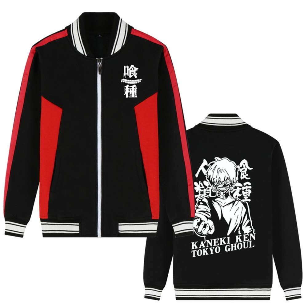 Gumstyle Anime Tokyo Ghoul Baseball Uniform Unisex Cosplay Zip Sweater Jacket Sport Coat