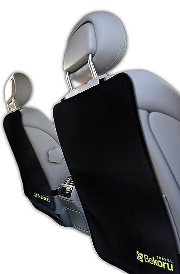 Kick Mats By Bekoru Travel Premium Large Car Seat Back Protectors 2 Pack