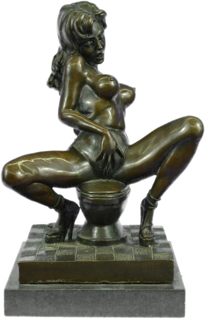 SIGNED ~Mavchi~bronze statue art nouveau deco flower girl Figure Decoration Sale