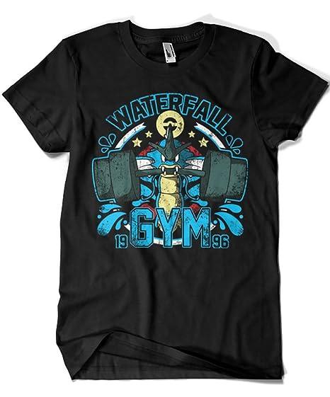 3009-Camiseta Pokemon - Waterfall Gym (Soulkr): Amazon.es: Ropa y accesorios