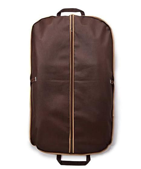Fyore transpirable ropa bolsa de transporte para traje y Vestido Ropa impermeable doble plegable mango para viaje 120 * 60 cm, café