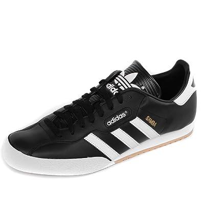 a27245e489bf79 New Mens Adidas Originals Samba Super Leather Trainers Black Size UK 7