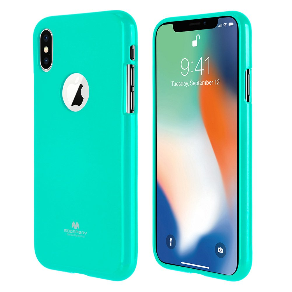 Iphone Xs Case X With Screen Protector Goospery Soft Feeling Jelly Mint Slim Fit Lightweight Pearl Flexible Rubber Tpu Glitter