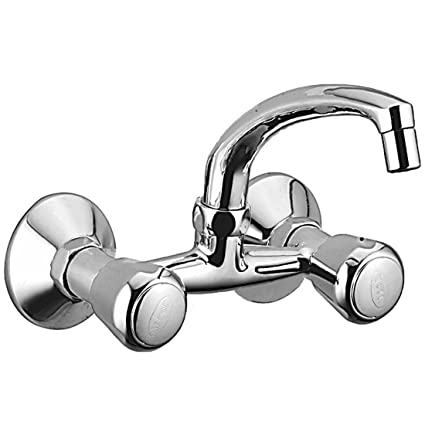 ALTON SMART 1065 Brass Sink Mixer With Swinging Spout/Wall Mounted (Chrome)