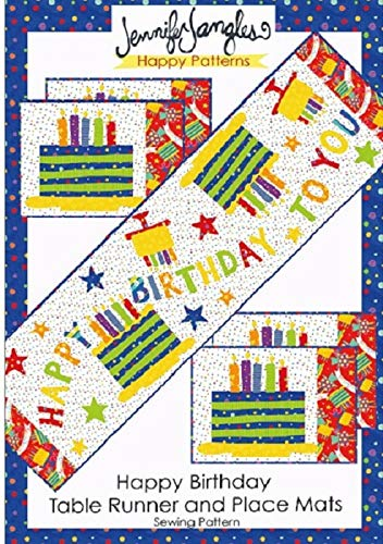 Happy Birthday Table Runner and Place Matts Pattern ()
