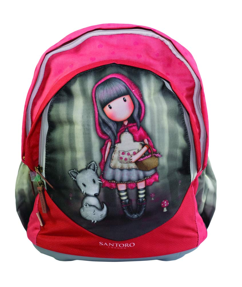 GORJUSS LITTLE rosso RIDING HOOD Cartella, 40 cm, Multicolore (Red nero)