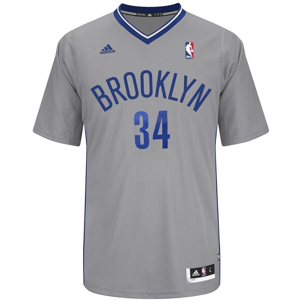 Amazon.com   Paul Pierce Brooklyn Nets NBA Adidas Men s Grey Revolutionary  Swingman Jersey (XL)   Sports   Outdoors b483325e8
