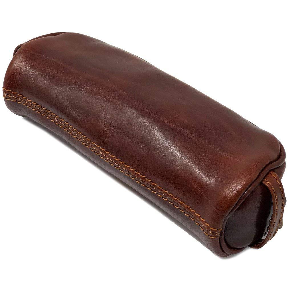 Floto Italian Leather Pencil Case Dopp Kit Toiletry Bag Shave Kit