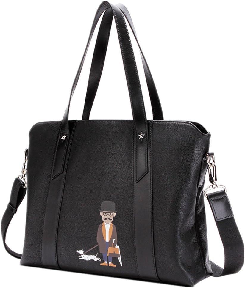 WUSHIYU Mens Messenger Bag Mens Briefcase Leather Mens Bags Computer Bags Shoulder Bags Messenger Bags Suitable for Business Casual Satchel Shoulder Bag
