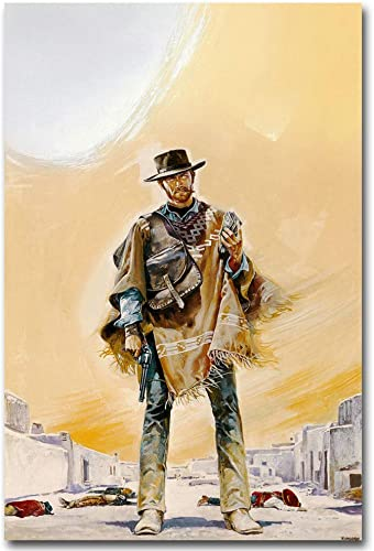 A Fistful of Dollars 1964 Clint Eastwood cult western,Oil Paintings Modern Canvas Prints Artwork Printed on Canvas Wall Art