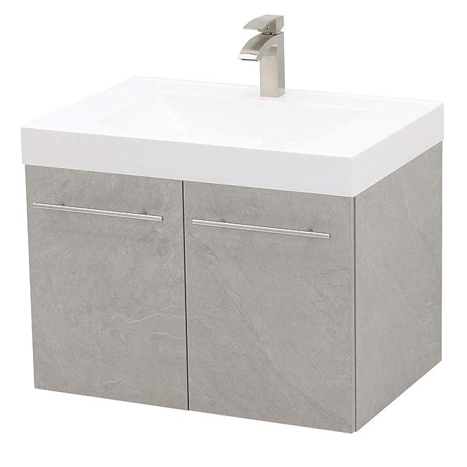 Amazon.com: WindBay - Juego de lavabo flotante de pared para ...