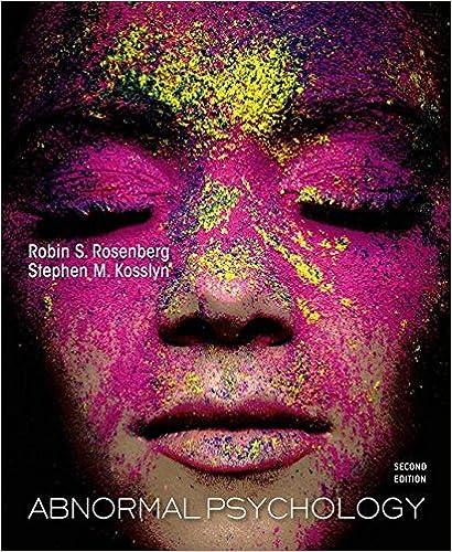 Amazon Com Abnormal Psychology 9781429242165 Robin Rosenberg