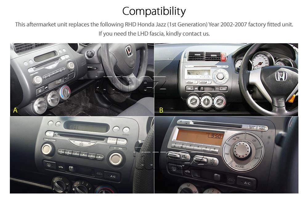 Tunez Car Dvd Gps Mp3 Player For Honda Jazz Fit Gd Head Amazonco