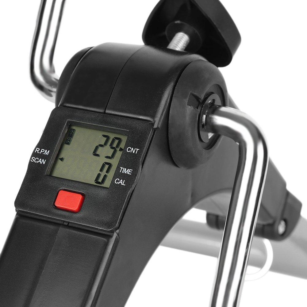Flyelf Pedaltrainer,Mini Heimtrainer Bewegungstrainer Faltbarer 49x37x35CM