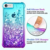 Ruky iPhone 6 6S 7 8 Case, iPhone 6 Case for Girls, Gradient Quicksand Series Glitter Bling Flowing Liquid Floating TPU Bumper Cushion Protective Cute Case for iPhone 6 6s 7 8 4.7 inches