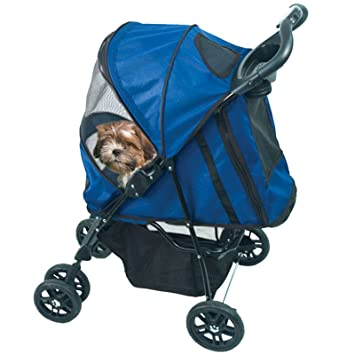 CARRIOLA para MASCOTA HAPPY TRAILS de PET GEAR color Cobalt Blue