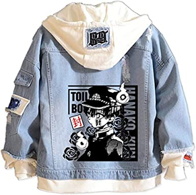 Tokisaki Toilet-Bound Hanako-kun Nene Yashiro Costume Yugi Amane Hooded Jacket Cosplay Men Trucker Jacket Woman Denim Jacket