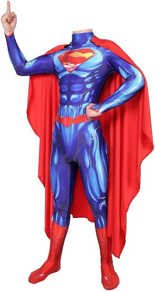 BLOIBFS Disfraz De Superman De La Liga De La Justicia,Halloween ...