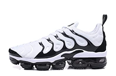 100% authentic 5afde e934f RUNSHOT Men s Air Vapormax Plus TN Running Shoe Basketball Shoes -White and  Black Stripes (