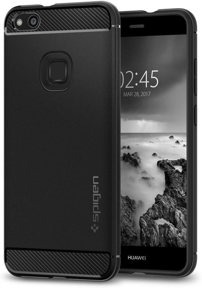 Cover Huawei P10 Lite, Spigen [Rugged Armor] Impressionante Black [Design Meccanica Durevole] Massima Protezione Da Cadute e Urti - TPU silicone Custodia Cover Huawei P10 Lite - Nero (L14CS21508)