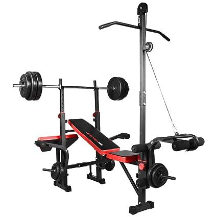 Hansson Sports – Banco de pesas para halteras TrainHard – Fitness Center con entrenamiento versátil,