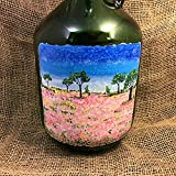 Hand Painted Table Lamp - Reclaimed Wine Bottle