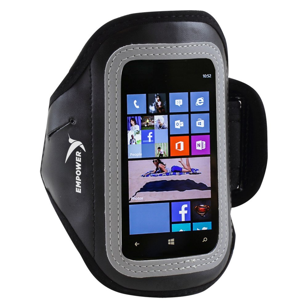 Empower Slimline Sportgürtel für Smartphones, Schwarz
