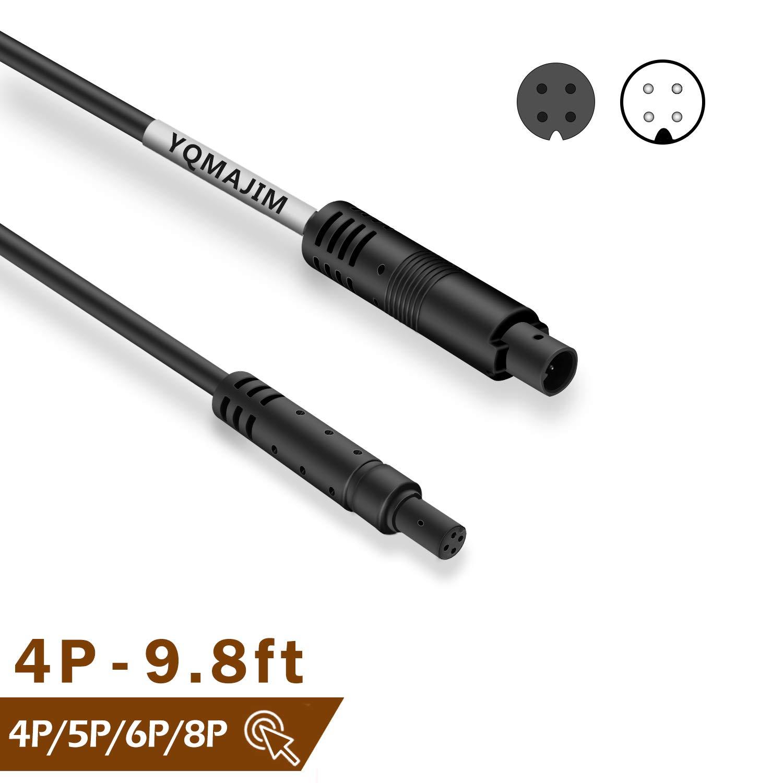 Dash Cam Rear View Camera Extension Cord,YQMAJIM 4 Pin 9.8 Ft Extension Cable for Car Backup Camera/Reverse Car Recorder(4 Pin 9.8Ft)