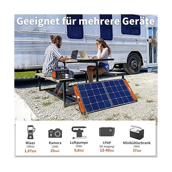 617RkaN0w5L Jackery Tragbare Powerstation Explorer 500 - 518 Wh Batterie Mobiler Stromspeicher & Solar Generator mit 230V Steckdose…