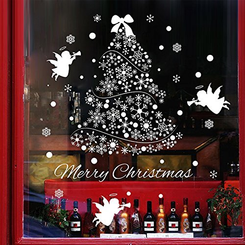 christmas decals for glass amazoncom - Christmas Decals For Glass