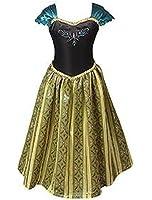 ELSA & ANNA® Ragazze Principessa abiti partito Vestito Costume IT-FBA-ANNA1 (IT-ANNA1, 4-5 Anni)
