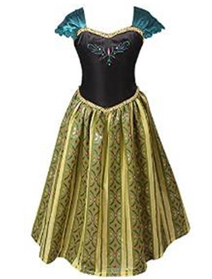 ELSA & ANNA® Princesa Disfraz Traje Parte Las Niñas Vestido (Girls Princess Fancy Dress) ES-FBA-ANNA1 (5-6 Años, ES-ANNA1) product image